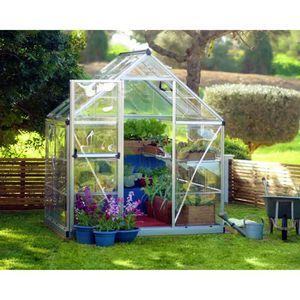 SERRE DE JARDINAGE PALRAM Serre de jardin argent Harmony 2,3 m² - Alu
