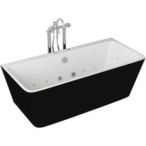 BAIGNOIRE - KIT BALNEO Baignoire hydromassante - 170x75x58cm - Design bic