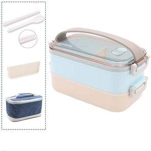LUNCH BOX - BENTO  BleuLunch Box-Lunch Box, Lunch Box Adulte pour Enf