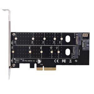 CARTE CONTROLEUR Adaptateur Double M.2 Pie,M2 Ssd Nvme (Touche M) O
