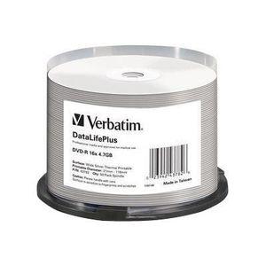 CD - DVD VIERGE Verbatim DataLifePlus - 50 x DVD-R - 4.7 Go 16x -…