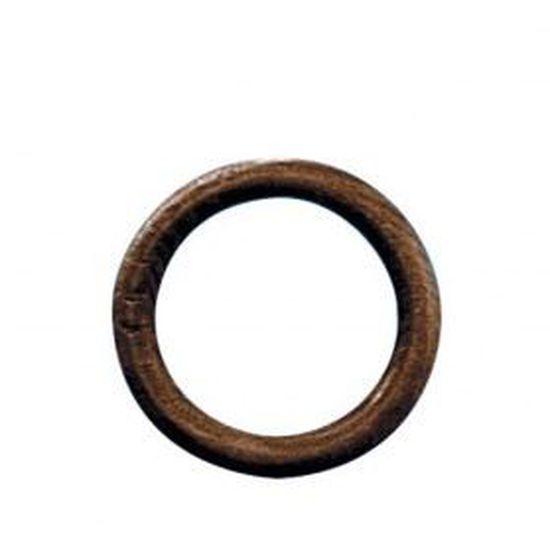plastique anneaux de rideau imitation bois avec œillets Noyer Convient Jusqu/'à 22//28mm pôles
