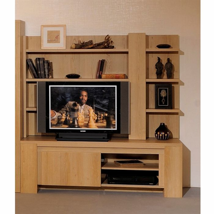 escapade fond d 39 tag re tv ch ne clair achat vente meuble tv escapade fond d 39 tag re tv. Black Bedroom Furniture Sets. Home Design Ideas