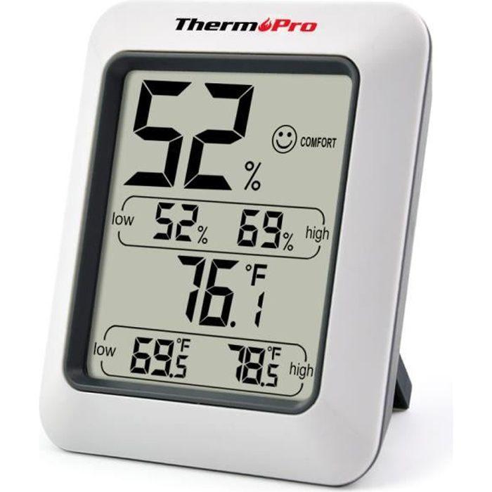 Thermomètre Hygromètre Intérieur Écran LCD Digital sans fil ThermoPro TP50