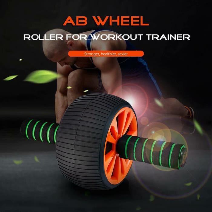 AB Roller Roue Abdominale Lombaire d'exercice avec Genouillère Extra épais Tapis de séance d'entraînement Fitness pour Exercices