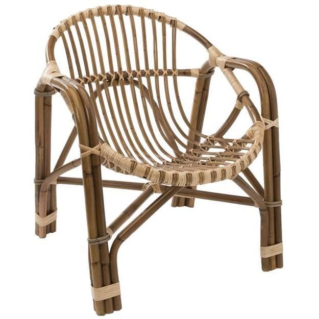 Fauteuil en rotin forme coquille