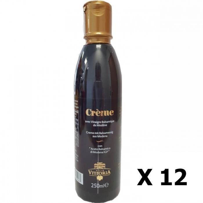 Lot 12x Crème de vinaigre balsamique - Villa Vittoria - bouteille 250ml