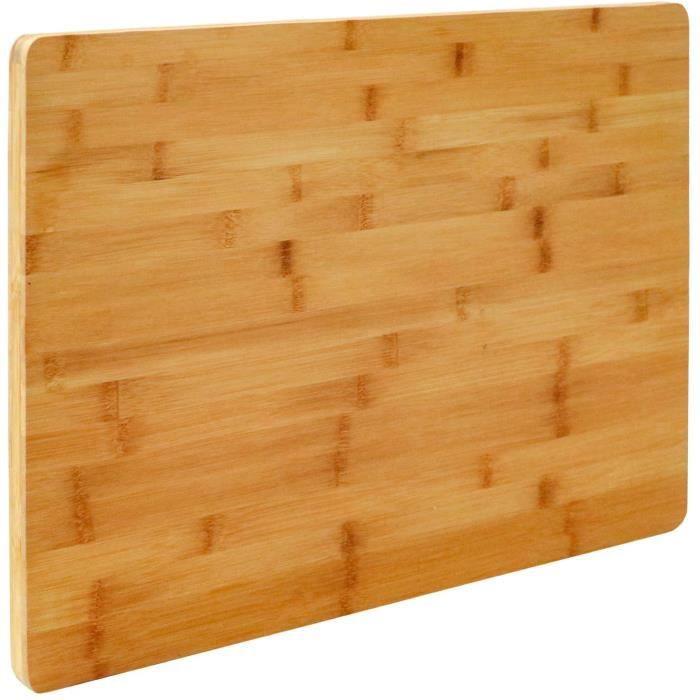 PLANCHE A DECOUPER EYEPOWER Planche &agrave D&eacutecouper XL en Bambou 50x35x2 cm Grande Tableau en Bois56