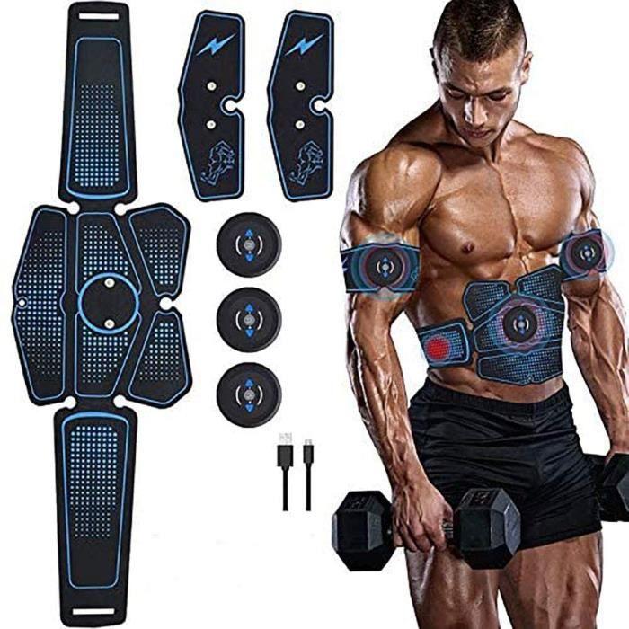 EMS Masseur Abdominal, Ems Trainer Ceinture Abdominale Homme Musculation Abdominaux Femme Usb, Appareil Abdominal Electrique, Stimul