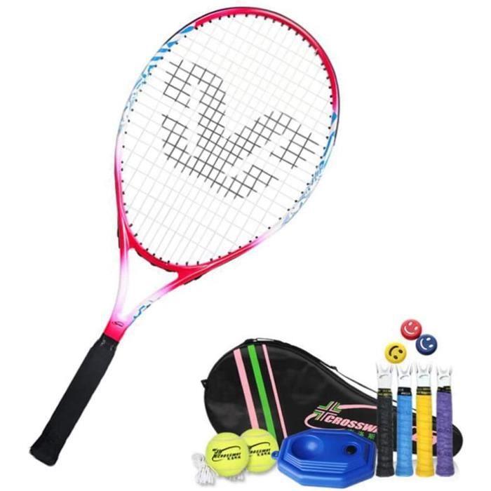 Raquette Tennis 25 Pouces, Ensemble Raquette Tennis Enfant,Portable Raquette de Tennis pour Débutants et Joueurs avec 2 Balles e,405