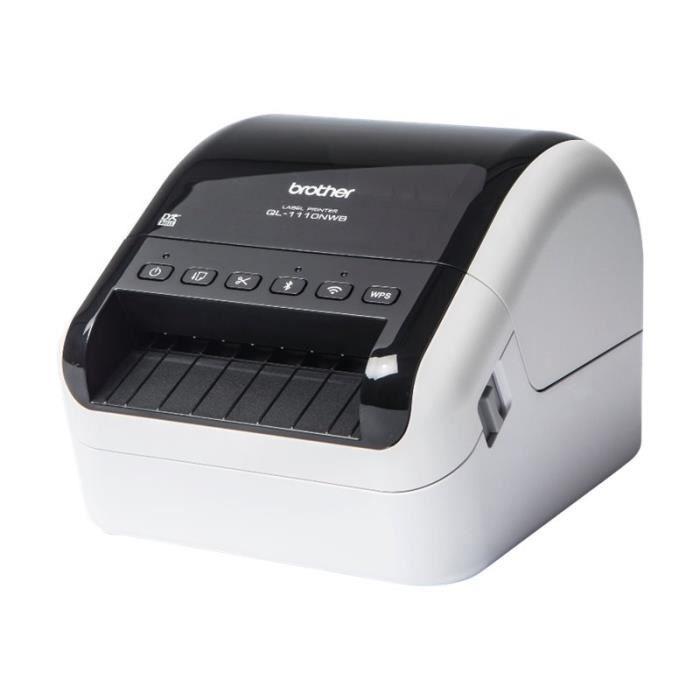 Brother QL-1110NWB Imprimante d'étiquettes papier thermique Rouleau (10,36 cm) 300 x 300 ppp jusqu'à 110 mm-sec USB 2.0-QL1110NWBZX1