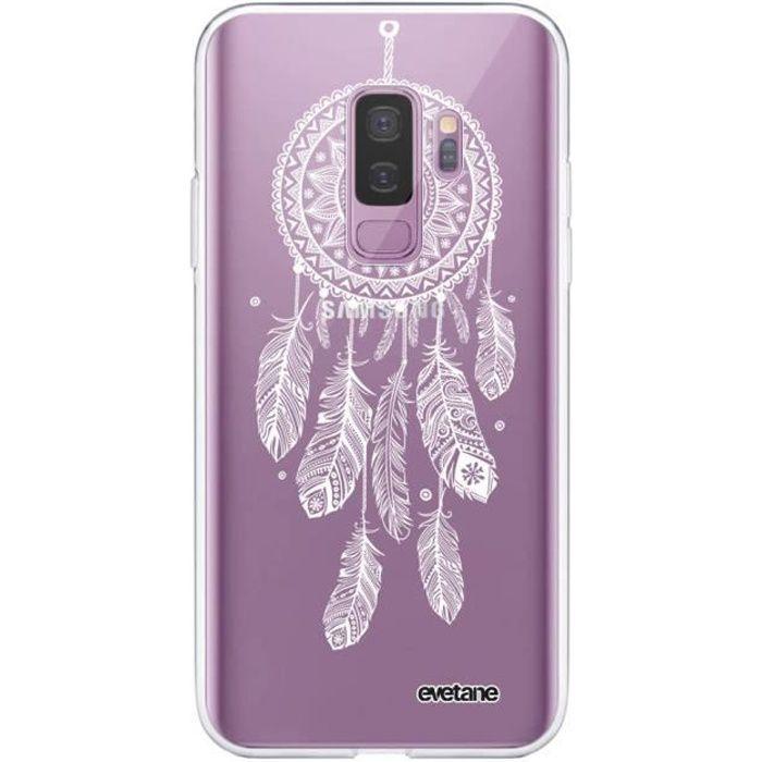 Coque Samsung Galaxy S9 Plus 360 intégrale transparente Attrape reve blanc Ecriture Tendance Design Evetane