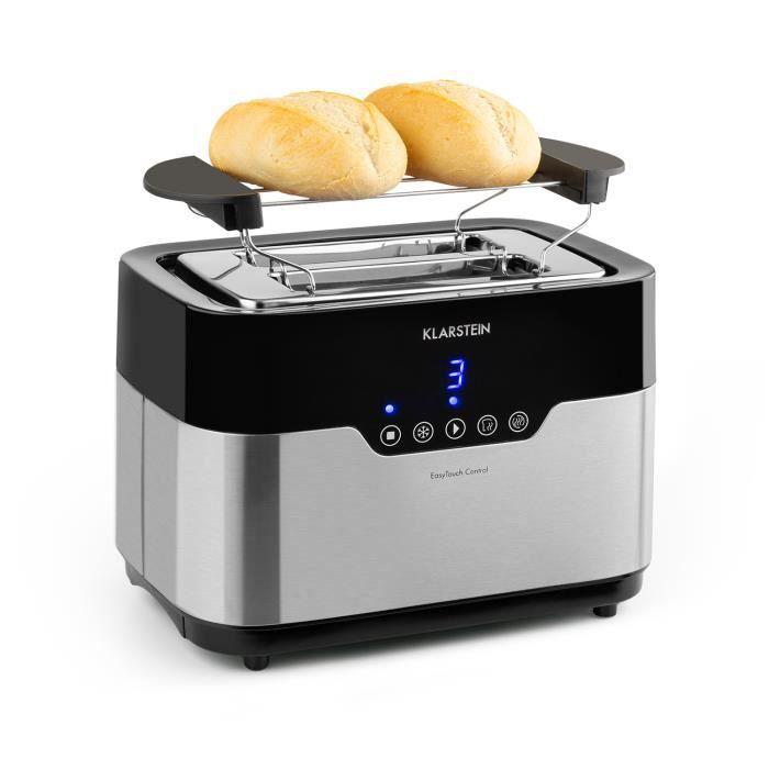 Grille Pain - Toaster - Klarstein Arabica - 2 fentes - 920W - inox