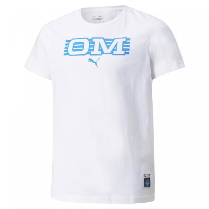 T-shirt enfant OM Ftblcore - blanc/bleu - S