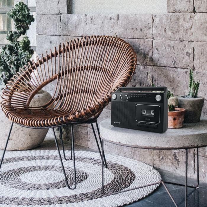 MUSE M-152 RC Radio analogique - Cassette - Noir