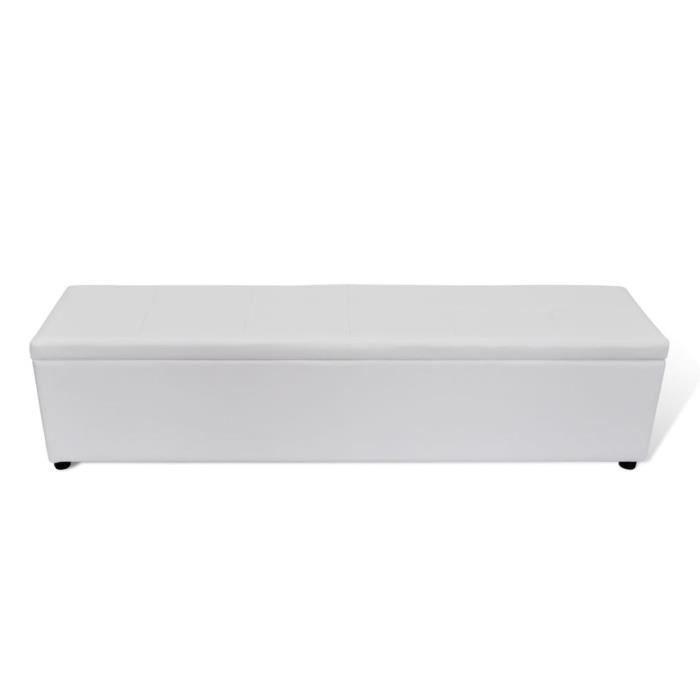Magnifique Banc banquette coffre de rangement blanc taille large
