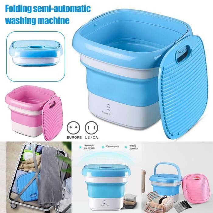 Mini sous-vêtements chaussettes pliant machine à laver portable machine à laver à ultrasons ozone US Plug bleu