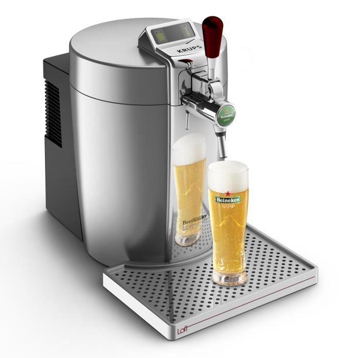 KRUPS Tireuse à bière Beertender - VB700E00 - Compatible fûts 5 L - Chrome