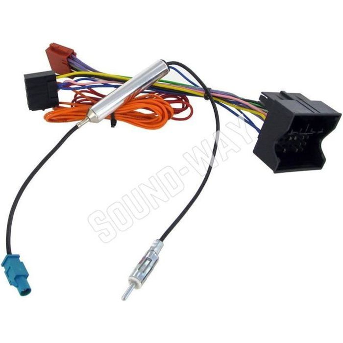 Câble adaptateur autoradio connecteur faisceau ISO pour OPEL VIVARO / ZAFIRA B