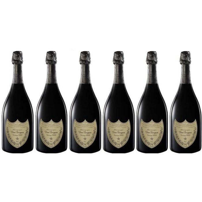 Lot 6 Champagnes Dom Pérignon Vintage 2010 75cl