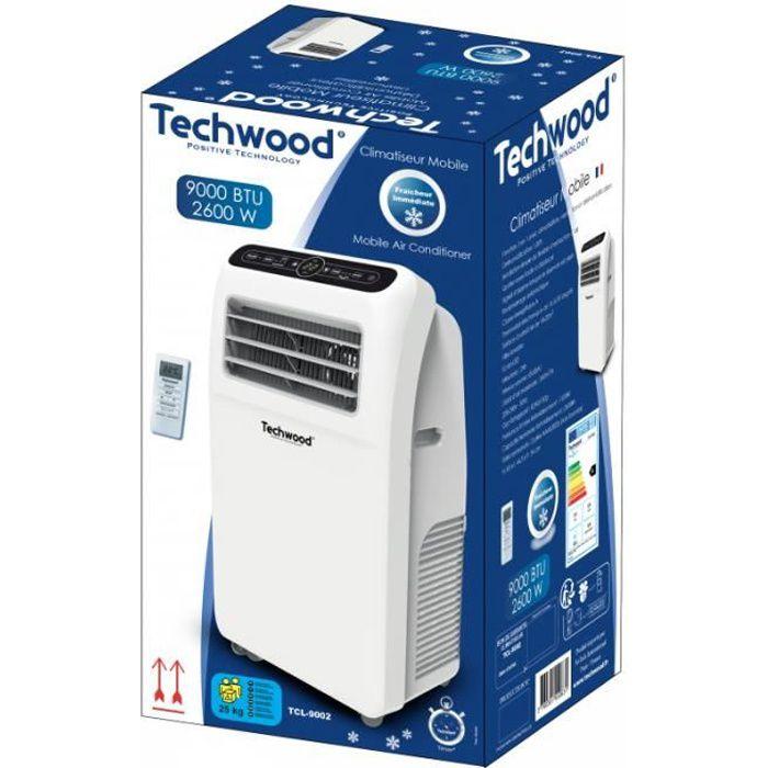 Techwood Climatiseur Mobile 9000 BTU
