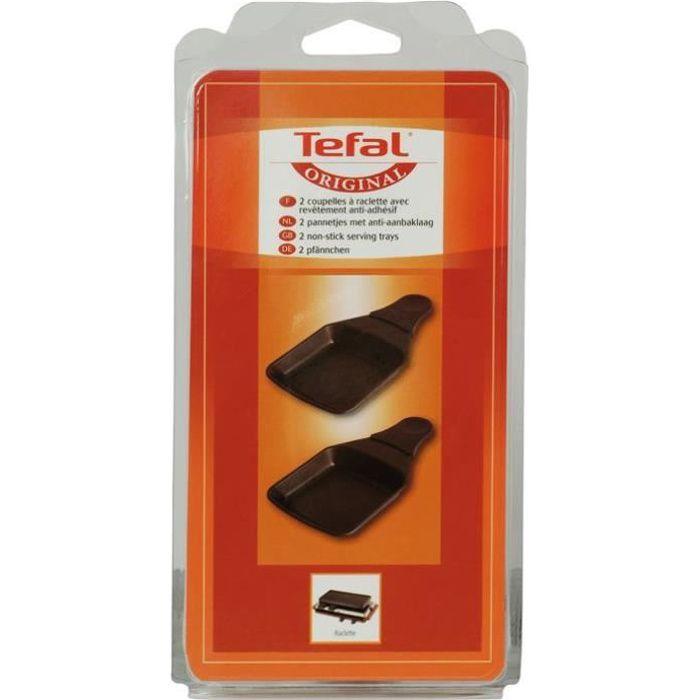 TEFAL Lot de 2 Coupelles Carrées - Raclette Ambiance - XA400202