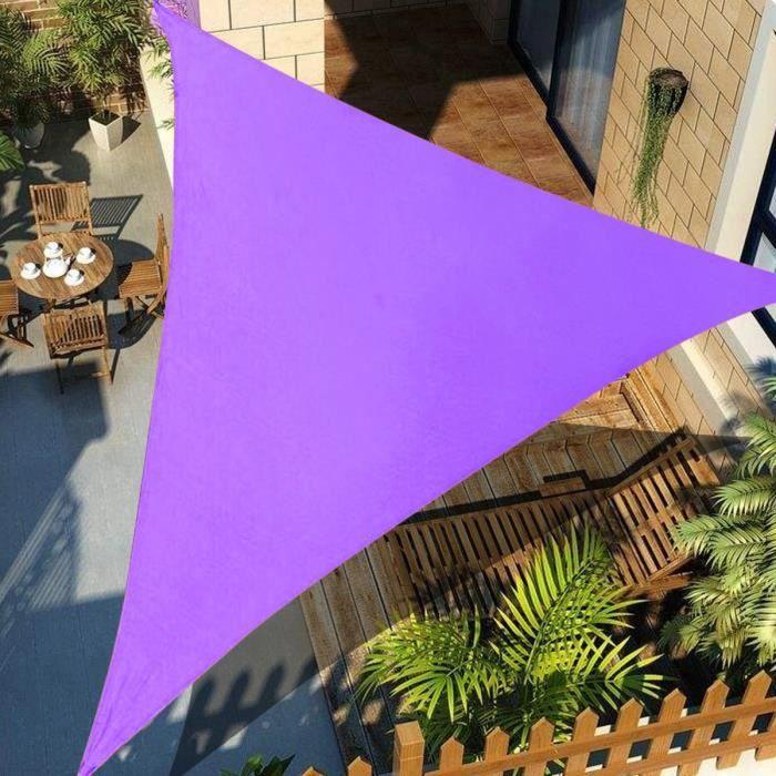 Triangle Soleil Auvent Voile D'ombrage Anti-UV Pour Extérieur Terrasse Jardin Patio VIOLET 4X4X4M