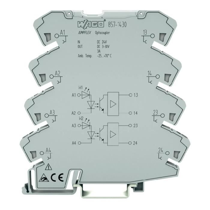 Optocoupleur JUMPFLEX® entrée : 2 x 24 V/DC sor…