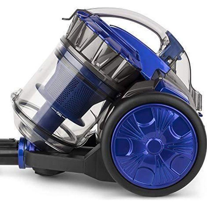 Aspirateur balai traineau sur roulettes Silencieux Filtre HEPA 450W