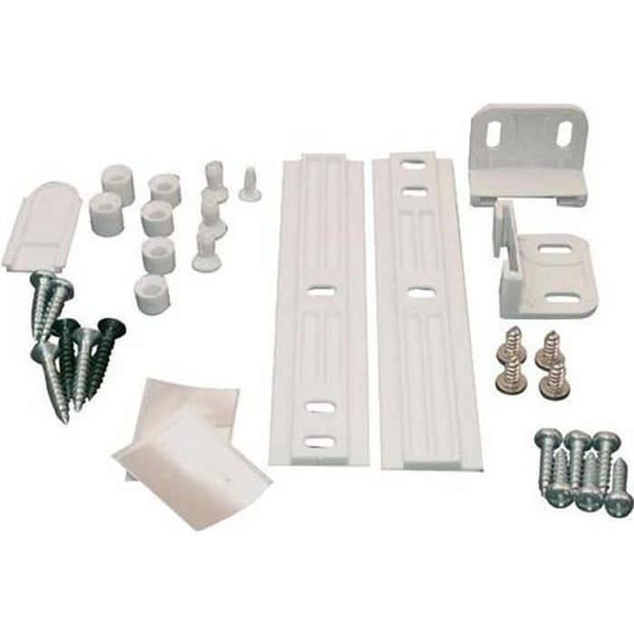 kit de fixation porte refrigerateur integrable avec systeme glissiere whirlpool 481231028208