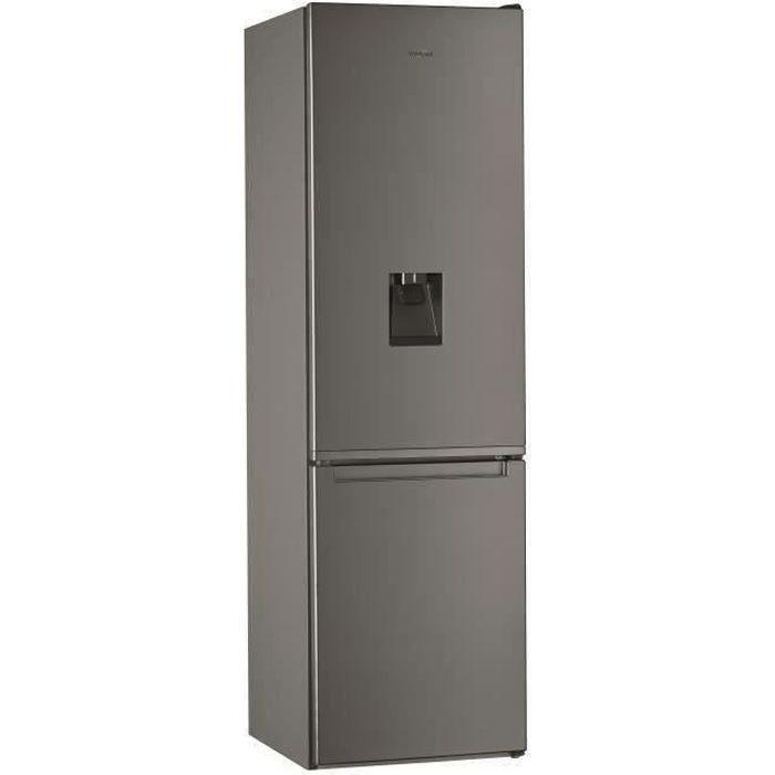 WHIRLPOOL - W7911IOXAQUA - Réfrigérateur combiné - 360 L (256 + 104)- Total NoFrost - A+ - L60cm x H201cm - Inox