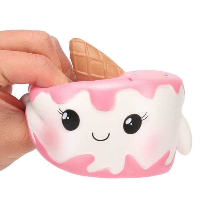 Kawaii Jumbo Cartoon Gateau Squishy Lente Creme Rising Scented