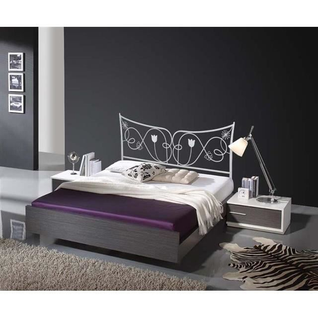 t te de lit en fer forg mod le judith achat vente t te de lit soldes d hiver d s le 6. Black Bedroom Furniture Sets. Home Design Ideas