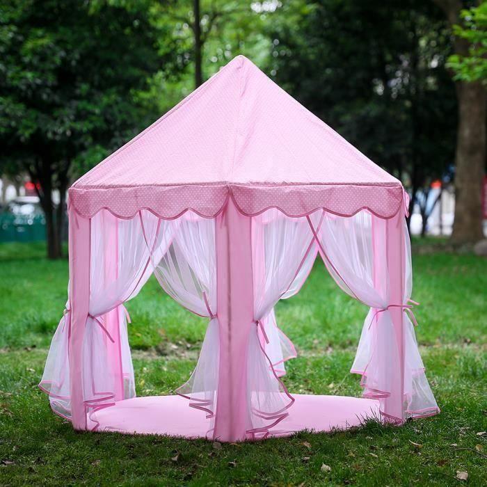 TENTE TUNNEL D'ACTIVITÉ Tente Enfant Château Princesse rose-pour filles ac