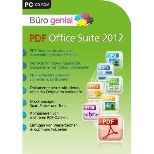 B ro genial pdf office suite 2012 import allem achat for Buro allemand