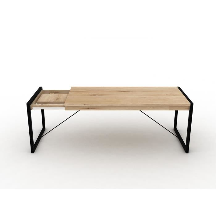 Bobochic Table A Manger Extensible Zara Chene Et Gris Anthracite