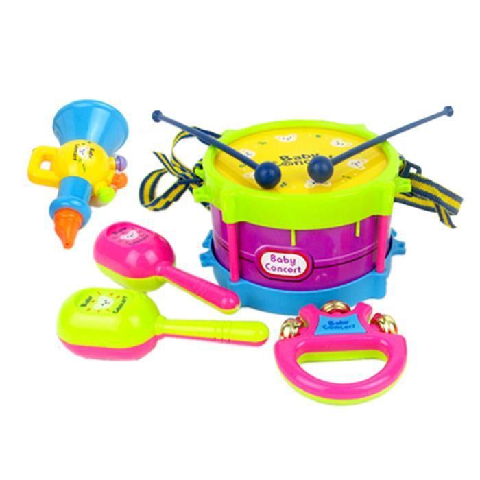 Peppa Pig Music Set Filles Garçons Enfants tambourin Enregistreur guitare clés de voiture jouet