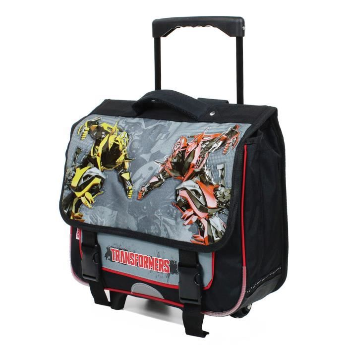 cartable roulettes scolaire gar on transformers 38cm gris achat vente cartable. Black Bedroom Furniture Sets. Home Design Ideas