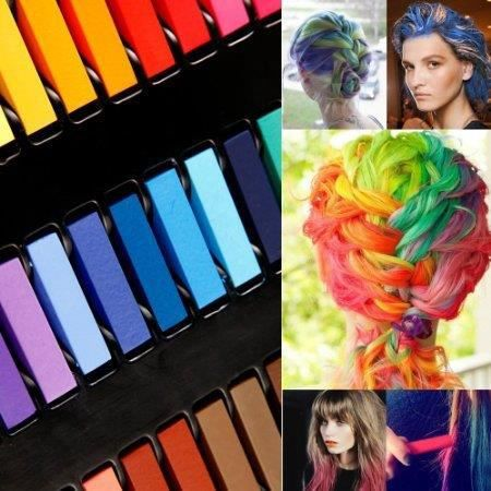 kit de 24 couleur coloration cheveux teinture craie crayon temporaire coiffure achat vente. Black Bedroom Furniture Sets. Home Design Ideas