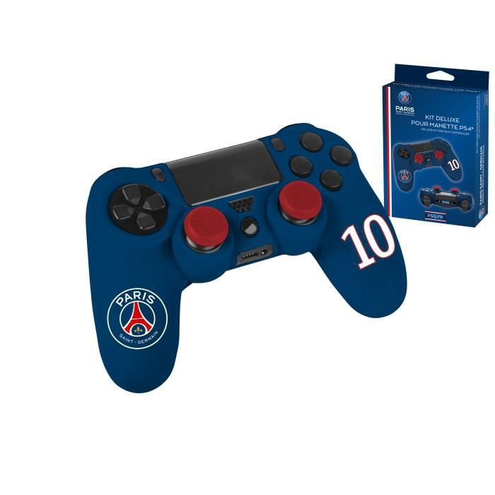 kit deluxe pour manette ps4 housse caps silicone pour manette playstation 4 psg paris. Black Bedroom Furniture Sets. Home Design Ideas