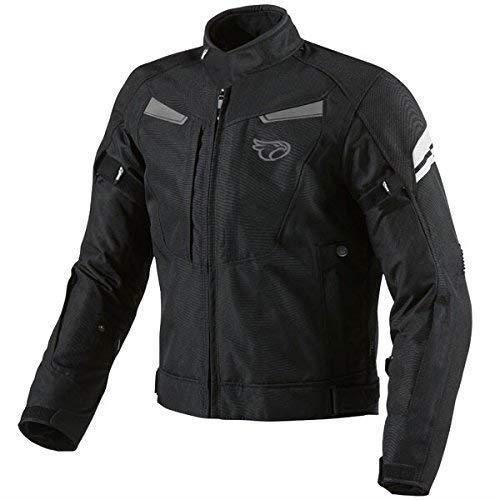 Noir Fluro, S Jet Blouson Veste Moto Homme Imperm/éable avec Armure Textile