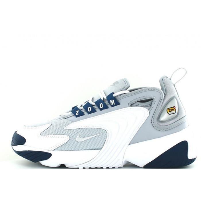 Basket Nike ZOOM 2K - Réf. AO0354-004. Couleur : Gris, Blanc, Bleu ...