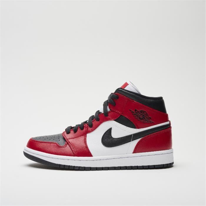Basket Air Jordan 1 Mid 554724-069 Chaussures de pour Homme Noir ...