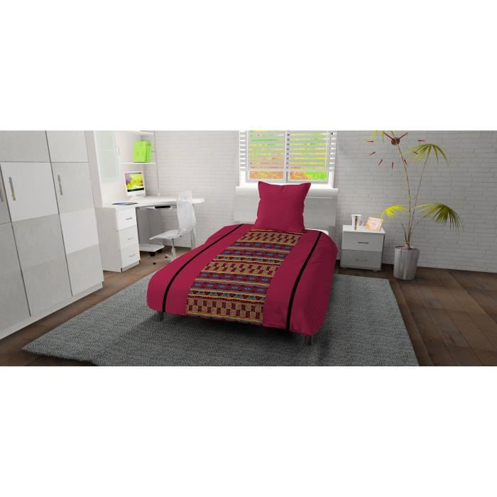 couette imprimee double face 140x200 achat vente pas cher. Black Bedroom Furniture Sets. Home Design Ideas