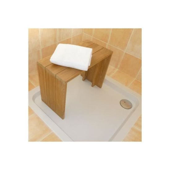 Banc teck massif pour salle de bains 60 cm - Achat / Vente ...