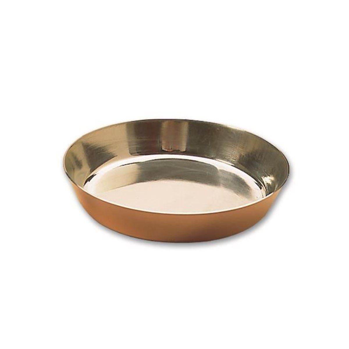 Moule A Tartelette Professionnel moule professionnel à tarte tatin en cuivre uni, étamé intérieurement à 280  mm de diamétre