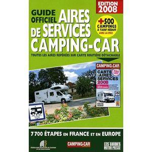 AUTRES LIVRES Guide officiel des aires de services camping ca...