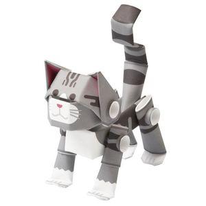 JEU DE COLORIAGE - DESSIN - POCHOIR Jeu De Coloriage animaux chats silver tabby - kit