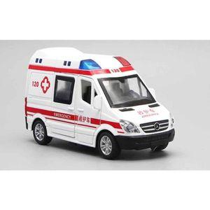 VOITURE - CAMION 1:32 Hôpital de Sauvetage Ambulance Police Métal V