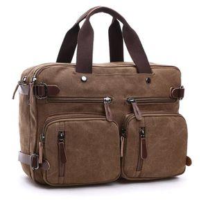 PORTE-HABITS hommes toile sac mallette en cuir valise de voyage